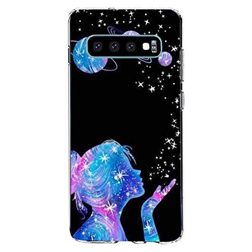 kkkie kompatibel mit Galaxy S10 Hülle Transparent Silikon Case TPU Bumper für Galaxy S10 plus Schutzhülle Marmor Blumen Muster HandyHülle für Galaxy S10e (13, Galaxy S10)