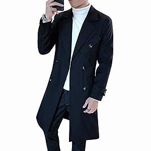 KOGARASI コート メンズ ロング ジャケット トレンチコート 春秋 ビジネス スプリング 防寒 防風 冬用 アウター 無地 レディース 男女兼用 ベルト付き 大きいサイズ