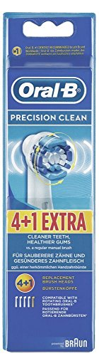 Braun Oral-B Brossettes Precision Clean Lot de 4 + 1 Brossettes Pièces