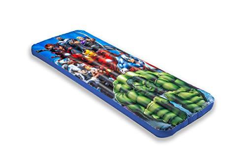 Living iQ Inflatable Jr Twin Portable Travel Kids Sleeping Air Bed Mattress (Avengers)