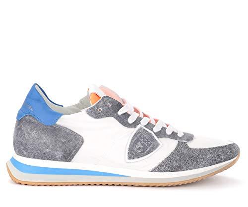 Philippe Model Sneaker Tropez X In Pelle E Tessuto Grigio E Bianco
