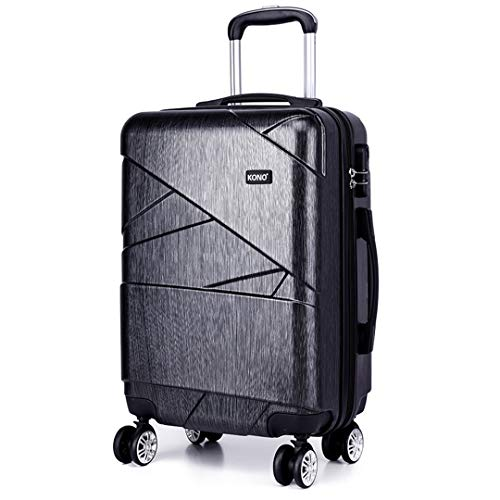 Kono 28 Inch Large Luggage Super Lightweight PC Hard Shell Trolley Travel Case with 4 Wheels Suitcase (28', Grey)