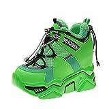 Zapatos Casuales de Plataforma para Mujer cómodos Transpirables Cordones Zapatillas Deportivas para Mujer Zapatillas de cuña con tacón Oculto para Caminar