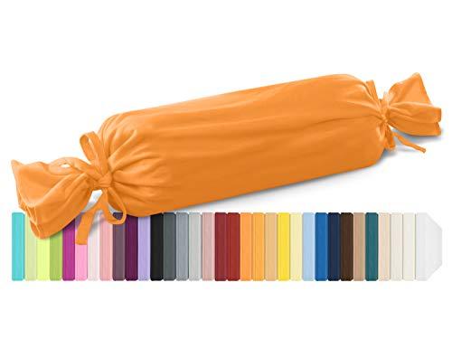 schlafgut Mako Jersey Spannbetttuch 15001 oder Kissenbezug 15101 - Baumwolle 406.463, orange, Kissenbezug 15 x 40 cm