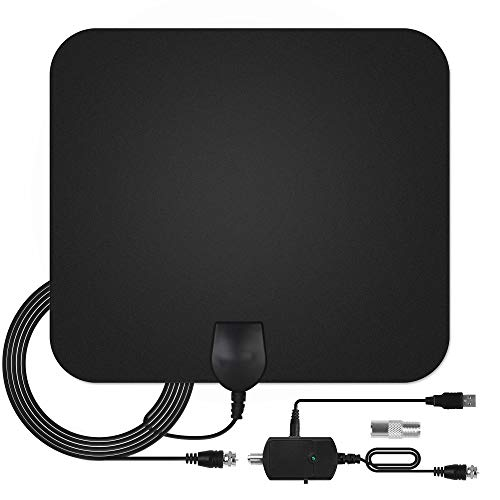 TV Antenna - InnooCare HDTV Antenna Support 4K 1080P, 80 to 130 Miles Range Digital Antenna, VHF UHF Freeview Channels Antenna with Amplifier Signal Booster, 16.5 Ft Longer Coaxial Cable