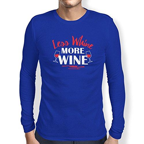 Texlab Less Whine More Wine T-shirt met lange mouwen voor heren