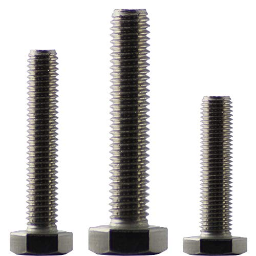 10 Stück Sechskantschrauben M10 x 45 DIN 933 | Maschinenschrauben | Gewindeschrauben | Falk-Schrauben | Edelstahl A2
