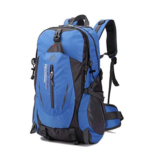 YXZQ Outdoor-Reiserucksack, Fassungsvermögen 40 l, wasserdichtes Nylon, leicht, Wanderrucksack, lässiger Rucksack blau