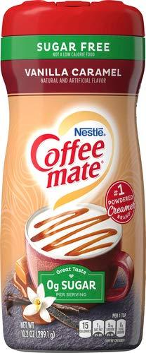 Coffee-Mate Vanilla Caramel, Sugar-Free Powdered Coffee Creamer, Kaffeesahne Pulver - Vanille Karamell - OHNE ZUCKER! aus USA