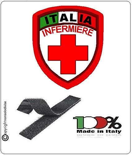 GS1 Parche Escudo Cruz roja Italiana Enfermera Nuevo Modelo CRI Art.CRI-Inf