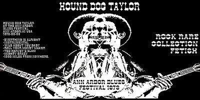 Hound Dog Taylor - Ann Arbor Blues Festival - 1973 Concert Poster