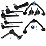 DLZ 10 Pcs Front Suspension Kit-Upper Control Arm Lower Ball Joint Outer Inner Tie Rod End...