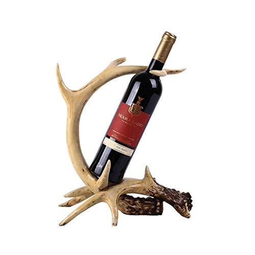 JUNYYANG Botellero, nórdica de Resina Artesanal Estante del Vino Hechos a Mano creativos caseros Suaves Ornamentos Decorativos