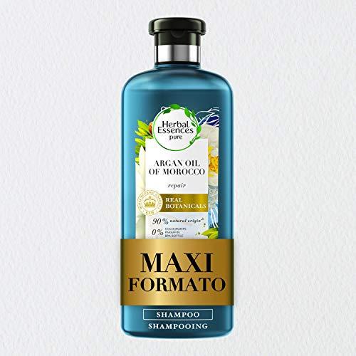 Herbal Essences Shampoo Olio di Argan, Ripara i capelli danneggiati, in Collaborazione con i Giardini Botanici Reali di Kew - 400 ml
