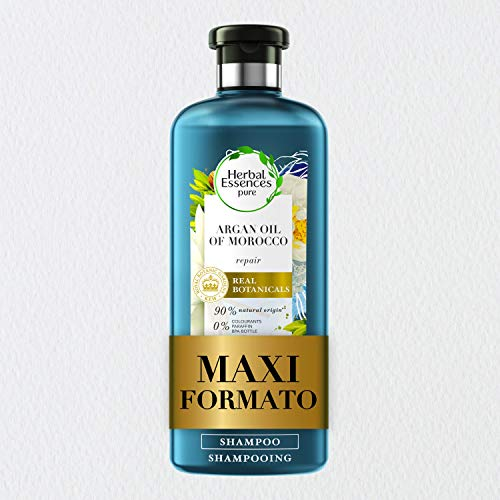 Herbal Essences Shampoo, Olio di Argan, Ripara dai Danni, in Collaborazione con Giardini Botanici Reali di Kew, 400 ml