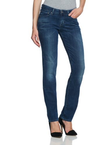 Levi's Damen Jeans Niedriger Bund Levi's Modern Demi Curve Straight 05700,  Blau (Sekura 0328) Gr. 28/32