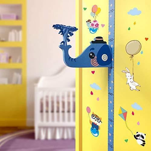 99native Wandtattoo,DIY Dreidimensional Abnehmbare Kind Höhenmessung Wandaufkleber,Kind Messlatte Maßnahme Familienzimmer Kinder Baby Room Wohnzimmer Schlafzimmer Dekorative (73x116cm) (B)