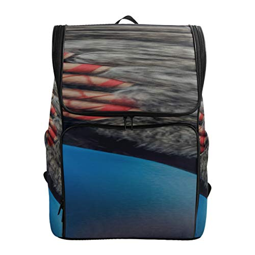 Colorful Feather Headdress Sport Bag For Kids Bag For Travel Hike Bags For Men Cute School Bags Fits 15.6 Inch Laptop And Notebook Best Backpack Cool College Bags