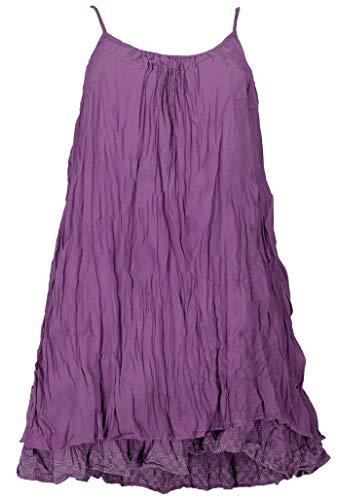 GURU SHOP Krinkelkleid, Minikleid, Sommerkleid, Strandkleid, Lagenkleid, Damen, Flieder, Baumwolle, Size:40, Kurze Kleider Alternative Bekleidung