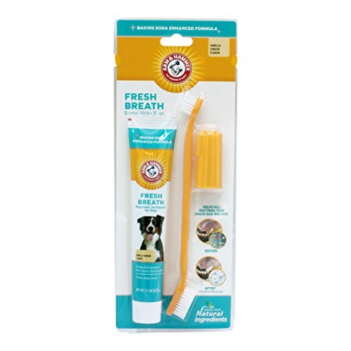 Arm & Hammer for Pets Dog Dental Care Fresh Breath Kit for Dogs