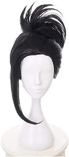 C-ZOFEK My Hero Academia Anime Yaoyorozu Momo Cosplay Wig With Ponytail Clip (black)