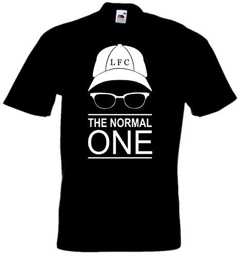 Klopp T-Shirt Funshirt The Normal One -No Official- Fan Art Liverpool (3XL, schwarz/weiß)