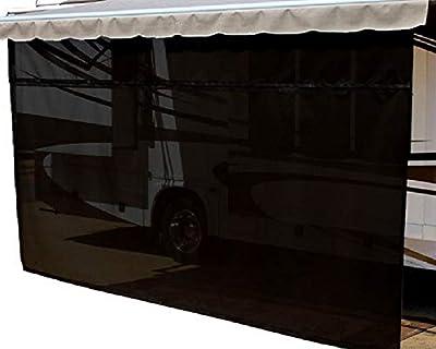 EasyShade RV Awning Sun Shade Panels Sun Blockers Awning Shade Cloth Black 10ft x 7ft Drop …