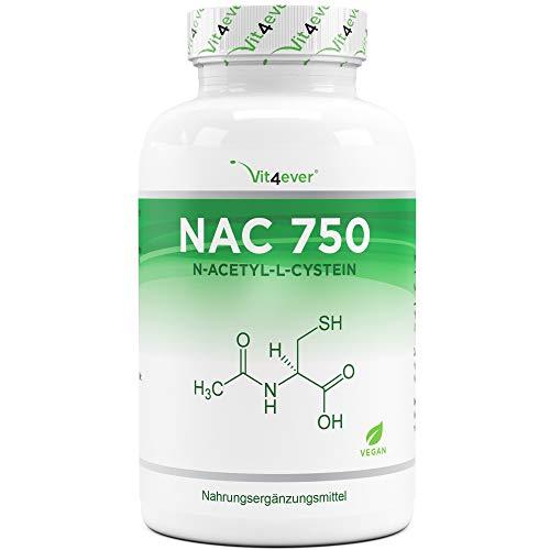 NAC - N-Acetyl L-Cystein 180 Kapseln mit je 750 mg - 6 Monatsvorrat - Laborgeprüft (Wirkstoffgehalt & Reinheit) - Vegan - Hochdosiert - Premium Qualität