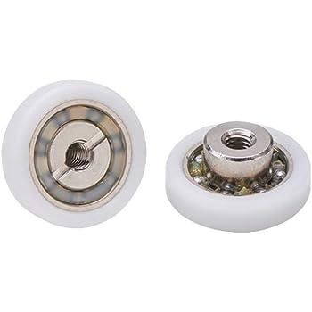 Almohadillas mampara de ducha Ruedas de bola de repuesto de acero para puertas de ducha A deslizamiento juego de 2 unidades ec-3307: Amazon.es: Bricolaje y herramientas
