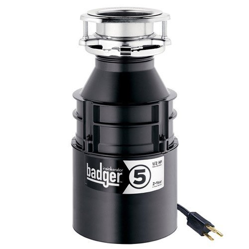 InSinkErator Garbage Disposal with Cord, Badger 5, 1/2 HP...
