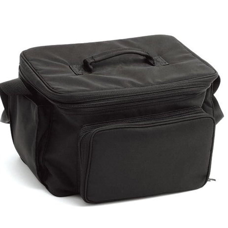ファンブル間社説LIFEBEAUTY コスメバック ブラック ソフトタッチのナイロン生地 W320×D250×H220mm
