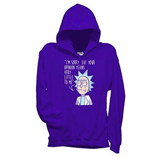 MUSH Felpa Rick & Morty Non Mi Importa - Cartoon by Dress Your Style - Bambino-XL-Viola