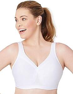 Glamorise Der ultimative Sport-BH für große Größen Sujetador, Blanco, UK 44 D para Mujer