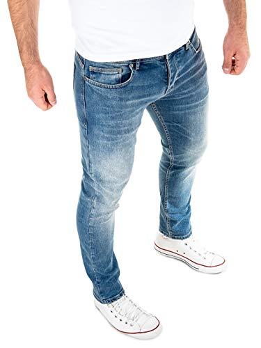 WOTEGA Jeans Herren Slim fit Alistar - Blaue Hose für Männer Straight - Blaue Stretch Jeanshosen - Denim Hosen, Blau (Insignia Blue 194028), W29/L30