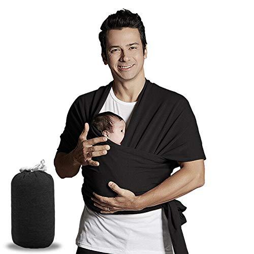 Bizcasa Babytragetuch, Tragetuch Baby Extra Lang, Wickeltuch Baby Tuch, Baumwolle Tragetuch Baby Carrier Sling Elastisches Tragetuch für Neugeborene Kleinkinder Kinder Tragetuch