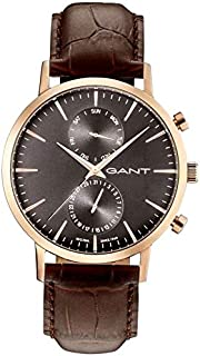 Gant Park Men'S Black Dial Leather Band Watch - G Gww11207