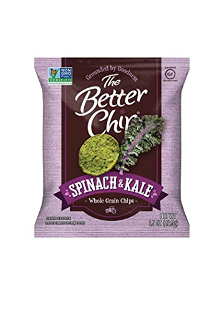 The Better Chip Whole Grain Chips, Spinach & Kale, 1.5 Ounce (Pack of 27)
