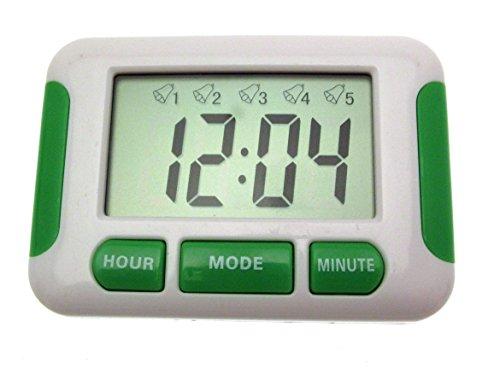 Digitaal horloge met 5 instelbare alarmen, stopwatch, herinneringshulp voor tabletten