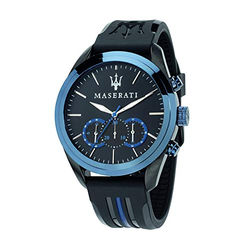 Reloj para Hombre, Colección Traguardo, Movimiento de Cuarzo, cronógrafo, en Acero y Cuero - R8871612006
