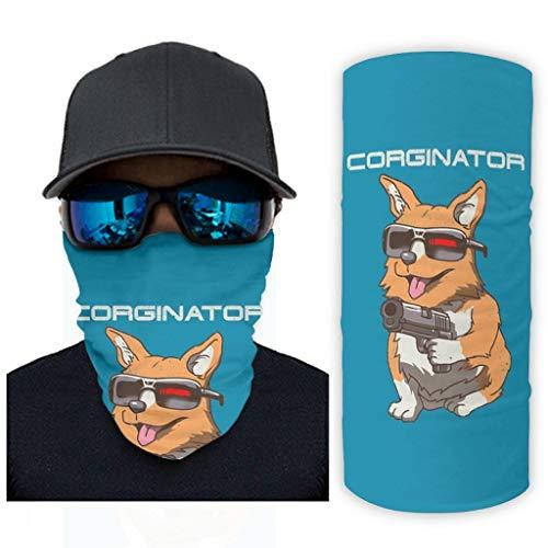 Pistola de perro azul mágica bufanda cuello polaina bandanas para hombres y mujeres Handwear para pesca al aire libre pasamontañas reutilizable diadema decoraciones blanco onesize