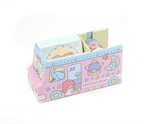 Little Twin Stars Klebeband und Memo-Set Pink Bus