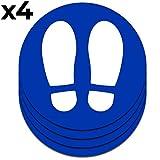 Señal adhesiva huella azul para suelo   Separadores...