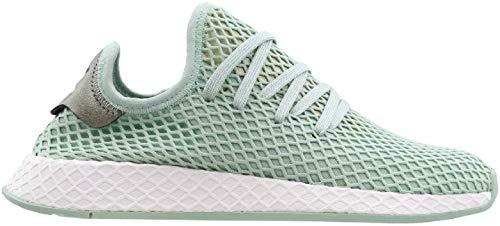 Womens Adidas Originals Deerupt Runner Trainers in ash Green.