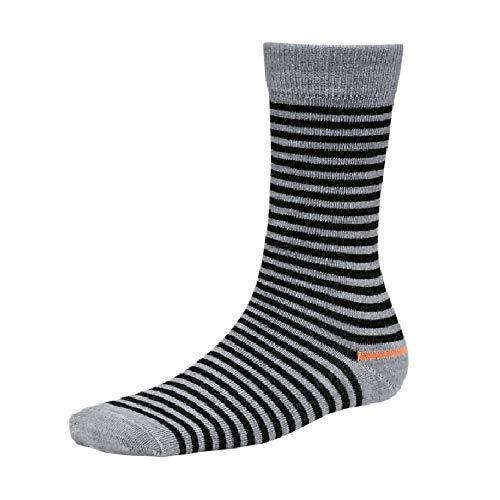 Timberland Damen Socken mit Merinowolle, gestreift (L) (Grau meliert)
