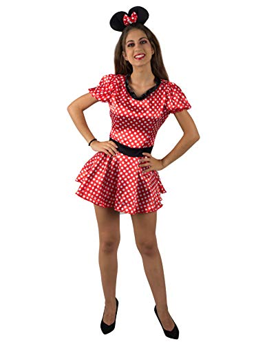 PARTY FIESTA Disfraz Minnie Topitos para Mujer (S)