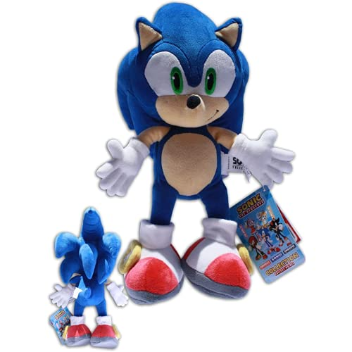Dlcvko Muñeca de Peluche Genuina Sonik Hedgehog Hedge Hedge Peluche Juguete Sonic Kid Muñeca de Felpa Jugando Incluso Muñeca de la Colina 35 cm
