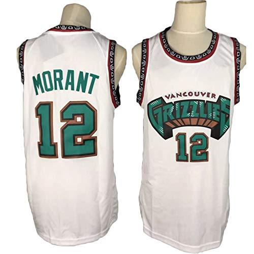 TPPHD NBA Jerseys, Memphis Grizzlies # 12 ja Morant Classic Basketball Shirt, cómodo Ligero Transpirable Unisex Uniforme Uniforme,2,XXL
