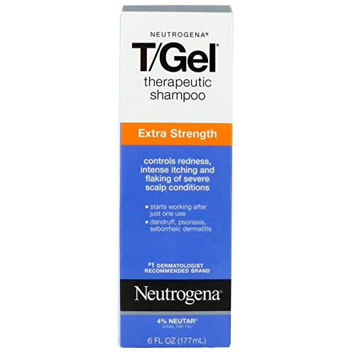 Neutrogena T Gel Shampoo Extra Strength For Dandruff Seborrheic Dermatitis 6oz 177ml (Pack of 1)