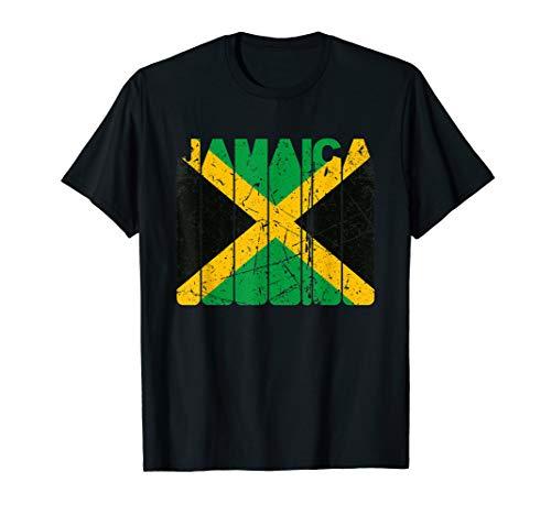 Retro Vintage Jamaika Reggea Rasta Rastafari Karibik T-Shirt