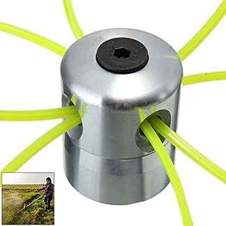 BovoYa – Cúter universal de cabeza de aluminio para cortacésped con 4 líneas, cabezal de corte para desbrozadora de gasolina